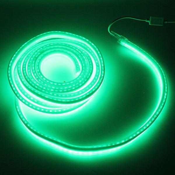 Гибкий неон,27 х 14мм,10 метров, 480 ламп, Зеленый,контроллер купить оптом и в розницу