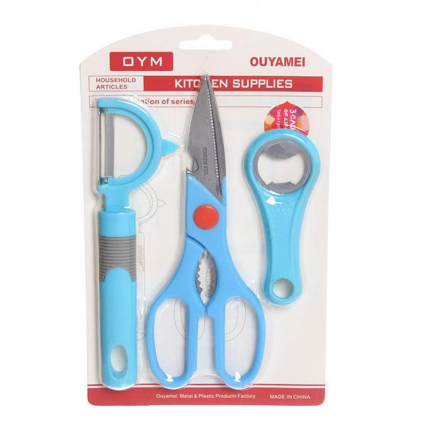 Набор кухонных аксессуаров: ножницы, овощечистка, открывалка купить оптом и в розницу