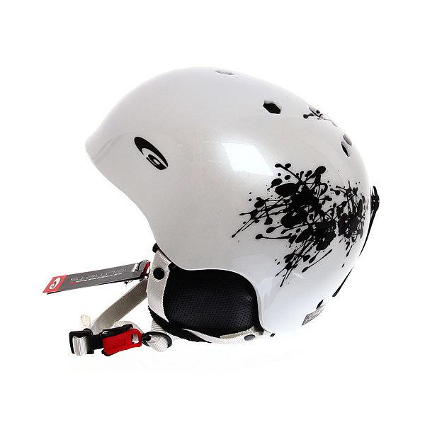 Шлем защитный S480-3 белый/черный р-р M(55-58) для зимних видов спорта купить оптом и в розницу