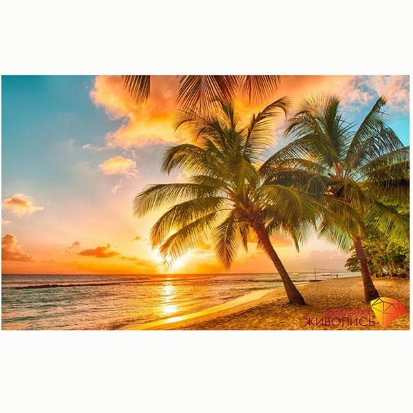 Набор ДТ Картина стразами Тропический закат АЖ-1063 купить оптом и в розницу