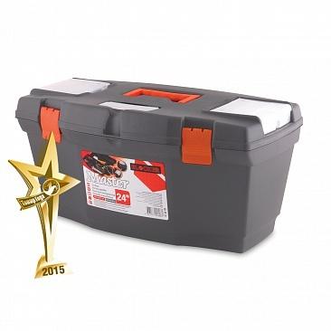 """Ящик для инструментов Master 24"""" серо-свинцовый *4 купить оптом и в розницу"""