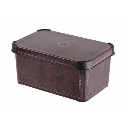 Коробка декоративная STOCKHOLM XL leather/5 шт (39,5х29,5х25)см Curver купить оптом и в розницу