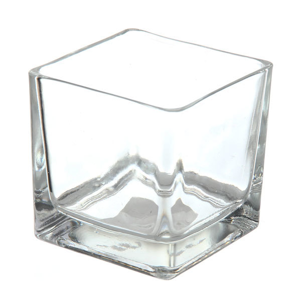 Ваза стеклянная флористическая 8*8*8см 661-4 купить оптом и в розницу