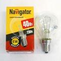Лампа накаливания Navigator NI-С-40Вт-E14-230В-СL прозрачн.сфера (10/100) купить оптом и в розницу