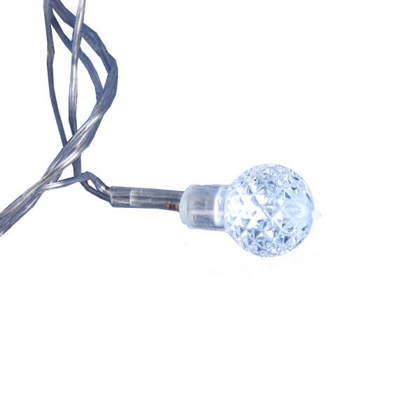 Гирлянда светодиодная 5м,30 ламп LED, Шар-грань, RG/RB(красный,зеленый/красный,синий), авторежимы, прозр.пров., с возм.совмещ. купить оптом и в розницу