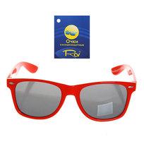 Очки солнцезащитные ″Модный стиль″ в красной оправе 054-4 купить оптом и в розницу