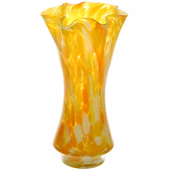 Ваза h=30см стеклокрошка желтая купить оптом и в розницу