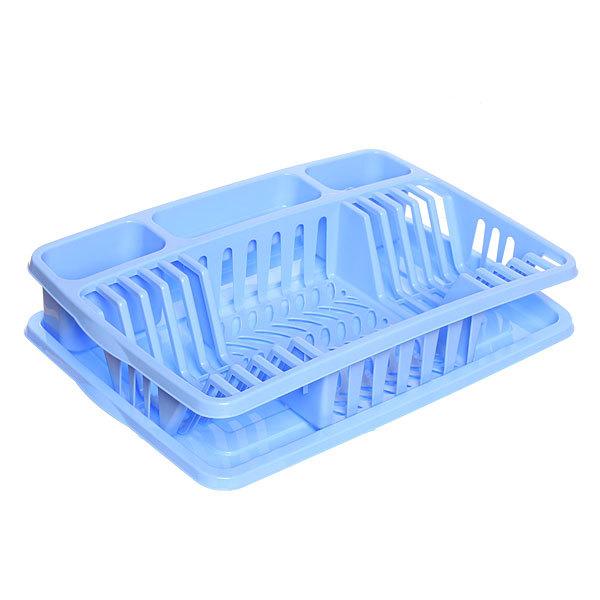 Сушилка для посуды ″Фланто″ 50,8*33,8см фиолетовая купить оптом и в розницу