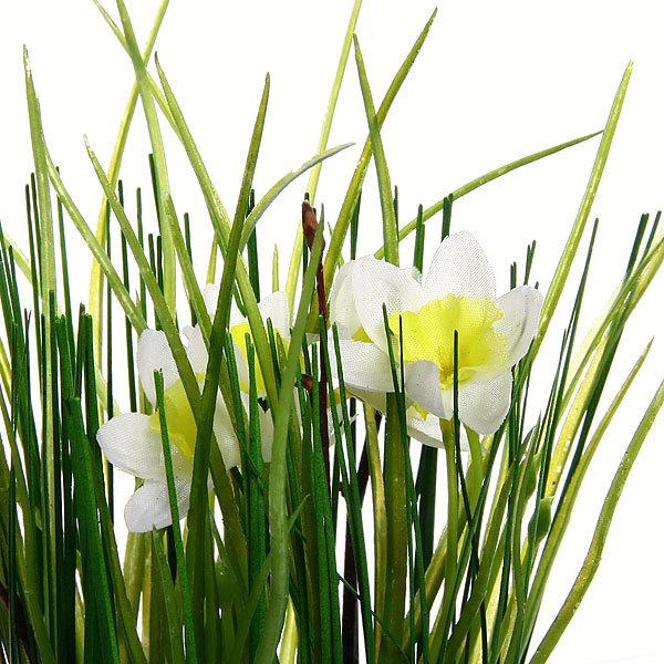 Цветы искусственные 35см Трава с лютиками YE8491 купить оптом и в розницу