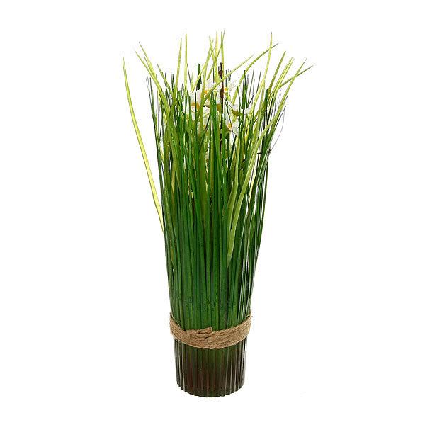 Цветы искусственные 35см Трава с ромашками YE8492 купить оптом и в розницу
