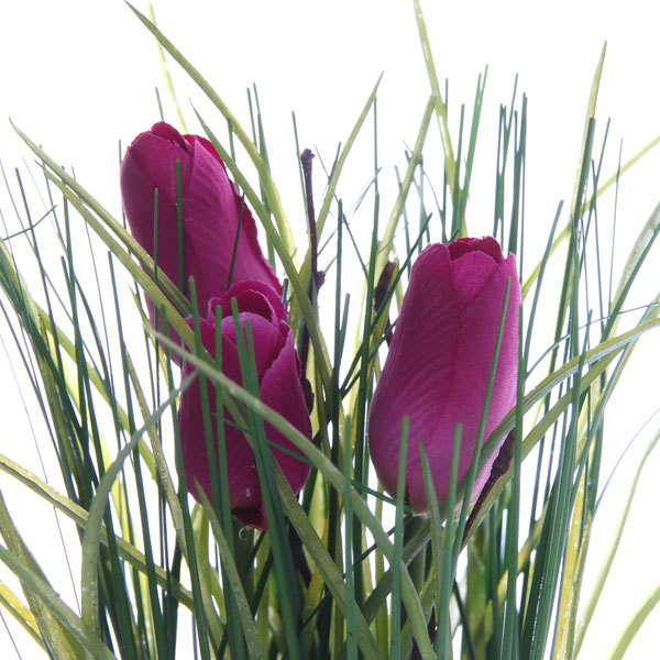 Цветы искусственные 35см Трава с тюльпанами YE8496 купить оптом и в розницу