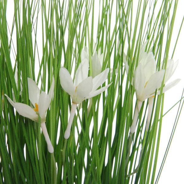 Цветы искусственные 35см Трава с подснежниками в пакетике YE8498 купить оптом и в розницу
