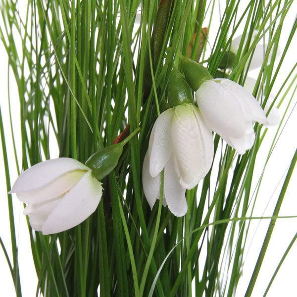 Цветы искусственные 35см Трава с хризантемами в пакетике YE8497 купить оптом и в розницу