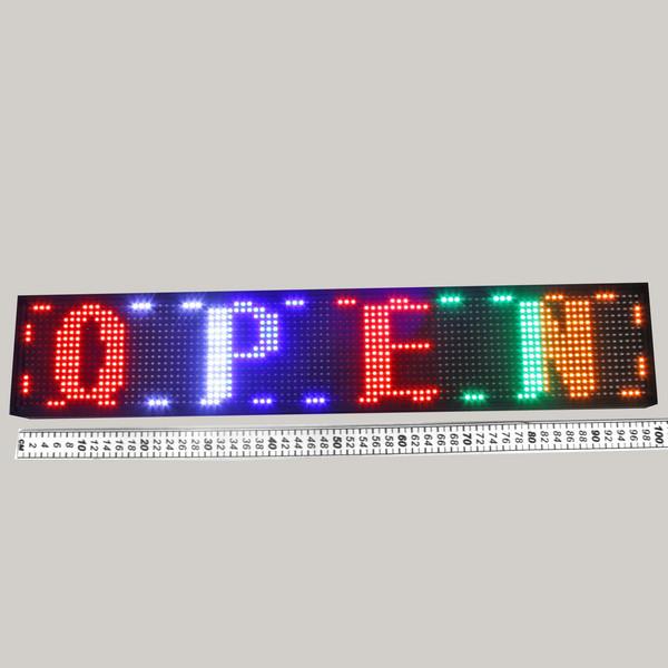 Световое табло LED 100*20см ″Бегущая строка″ 5 цветов (программируемая) купить оптом и в розницу