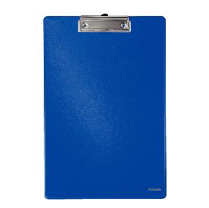 Клипборд-папка A4 Бюрократ пластик. с метал.зажимом, 1,2мм синий купить оптом и в розницу