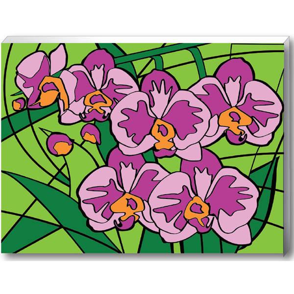 Набор ДТ Раскраска по номерам Орхидеи 30*40см 30177 купить оптом и в розницу