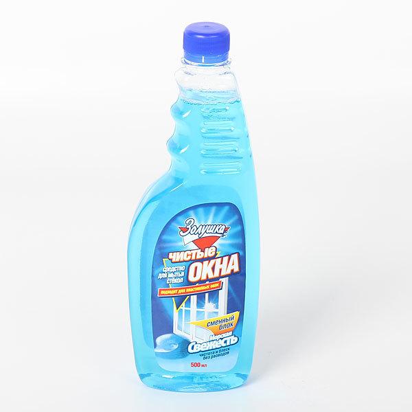 Средство для мытья стекол ЗОЛУШКА Чистые окна Морская свежесть сменный блок 500мл Ч21-5 купить оптом и в розницу