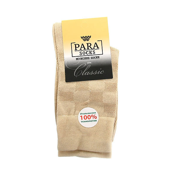Носки мужские PARA Socks, Куб 6, цвет светло-бежевый р. 25 купить оптом и в розницу
