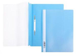 Папка-скоросшиватель A4 Hatber 140/180 мкм голубая, пластик, прозр.верх купить оптом и в розницу