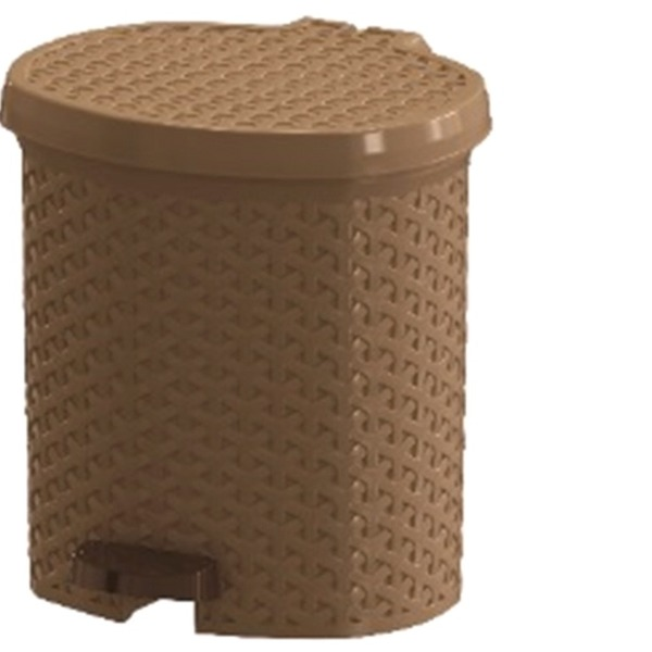 Контейнер педальный для мусора плетеный 12 л  (беж) *6 290х285х325 купить оптом и в розницу