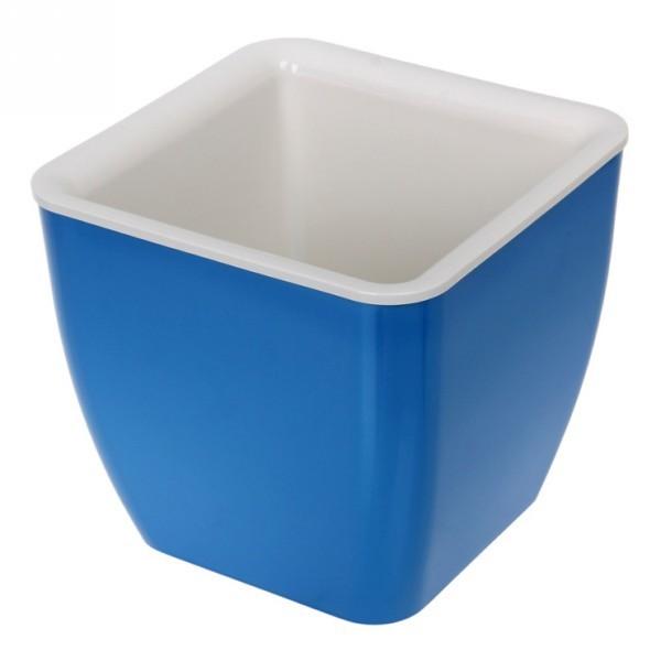 Горшок для цветов Square couleurs 8 Л_140-09 Синий/крем. купить оптом и в розницу