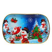 Поднос пластиковый ″Снеговики и Дед Мороз″ 42*27см купить оптом и в розницу