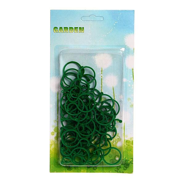 Клипсы для крепления растений 50 шт, средние, пластик, пакет купить оптом и в розницу