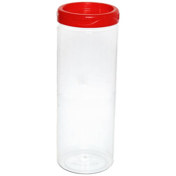 Банка для продуктов пластиковая 1600 мл с универсальной крышкой купить оптом и в розницу