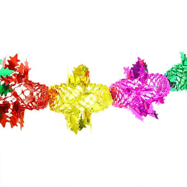 Гирлянда-растяжка фольгированная 2м 24 секций 15см 1403-2 купить оптом и в розницу