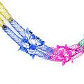 Гирлянда-растяжка фольгированная″Серпантин″ 2м 5 секций 23см 1403-17 купить оптом и в розницу