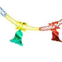 Гирлянда-растяжка фольгированная″Серпантин″ 2,5м 5 секций 13см 1403-22 купить оптом и в розницу