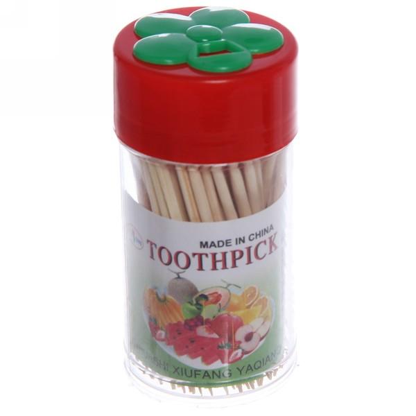 Зубочистки 100шт ″Цветок″ в пластиковой банке купить оптом и в розницу