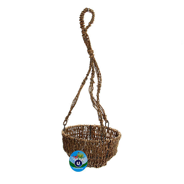Кашпо для цветов садовое ″Плетеное подвесное чаша″ 16х9см С-307 купить оптом и в розницу