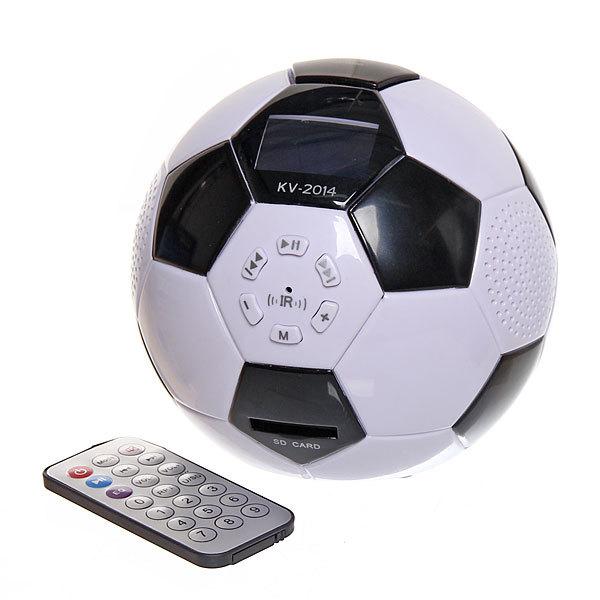 Минисистема акустическая ″Футбольный мяч″ FM, USB, miniSD, AUX ,будильник MD-560 купить оптом и в розницу