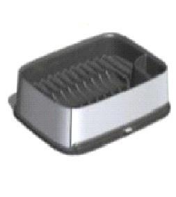 Сушилка для посуды маленькая DECO Curver гранит/крас.металл./ *4шт купить оптом и в розницу
