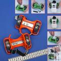 Коньки роликовые раздвижные на обувь XDZ-A02 (под пятку, ПВХ, огни) купить оптом и в розницу
