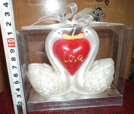 Свеча ″ Лебеди с сердцем ″ 2 купить оптом и в розницу