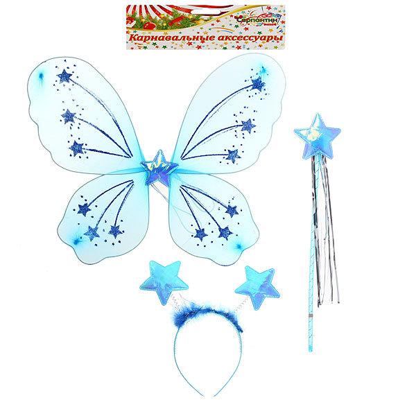 Карнавальный набор из трех предметов ″Фея″ (крылья, ободок, палочка) 546-4 купить оптом и в розницу