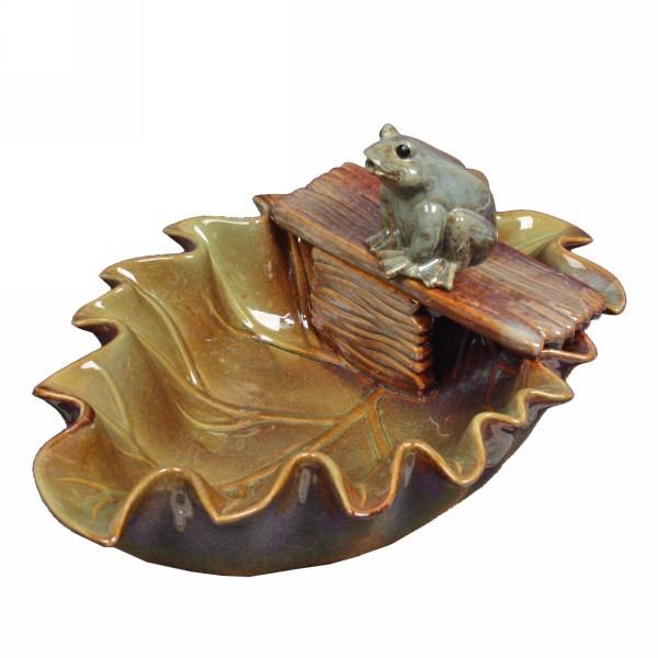 Фонтан из керамики ″Лягушонок на листе″ 40*15см GS09013 купить оптом и в розницу