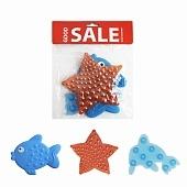 Мини коврик(на присосах) для ванной набор 3шт. GOOD SALE(звезда/рыбка/дельфин)*200 купить оптом и в розницу