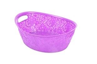 Корзинка кружевная овальная фиолетовый *44 купить оптом и в розницу