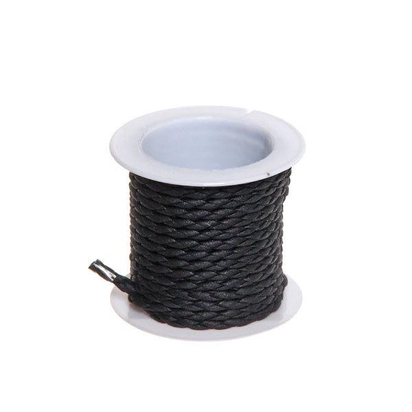 Шнур декоративный косичка 1,5м черная 1шт X243 купить оптом и в розницу