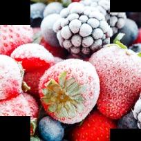 Картина модульная триптих 55*96 см, замороженные ягоды купить оптом и в розницу