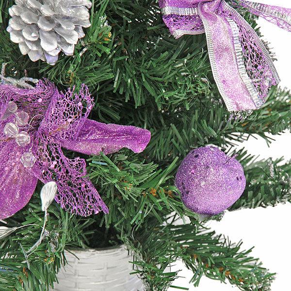 Елка искусственная 60см фиолетовый декор купить оптом и в розницу