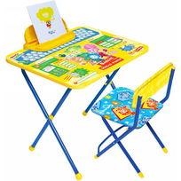 Набор детской мебели ″Фиксики″ складной, с пеналом, мягкий стул Ф1А купить оптом и в розницу
