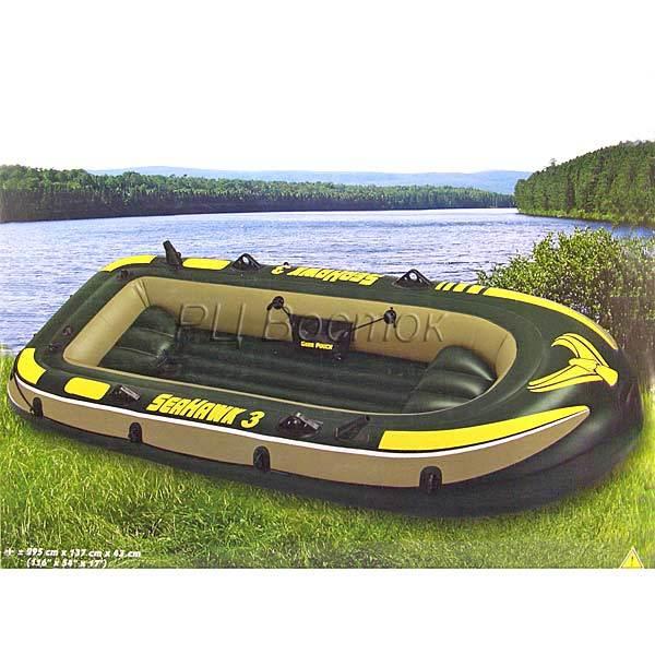 Лодка надувная 3-местная Seahawk до 300 кг 295*137*43 см,Intex (68349) купить оптом и в розницу