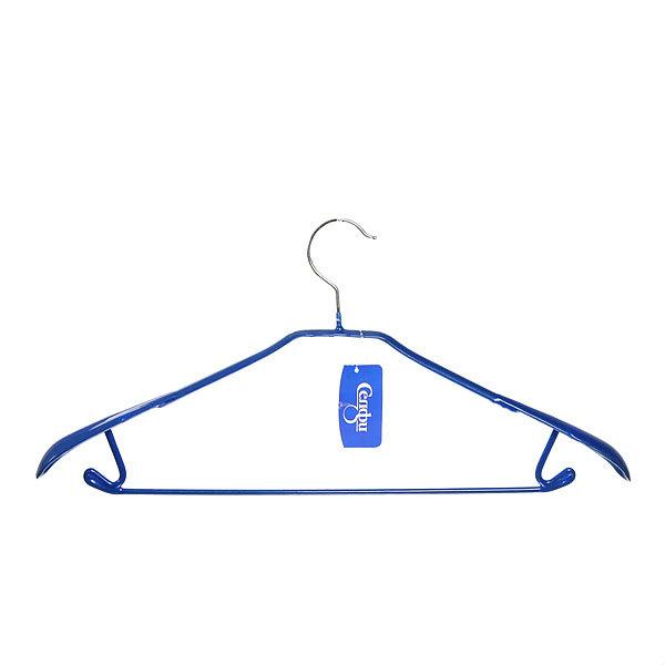 Плечики Селфи металлические с пвх покрытием синии 44см. купить оптом и в розницу