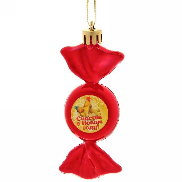 Ёлочная игрушка-конфетка ″Счастья в Новом году!″, Куриное семейство (крас) купить оптом и в розницу