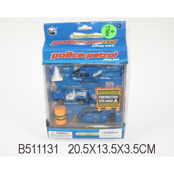 Набор машин металл 11231-ВА Полиция LITTLE ANT купить оптом и в розницу