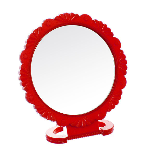 Зеркало настольное в пластиковой оправе ″Резная окантовка″ круг, подвесное d-15см купить оптом и в розницу